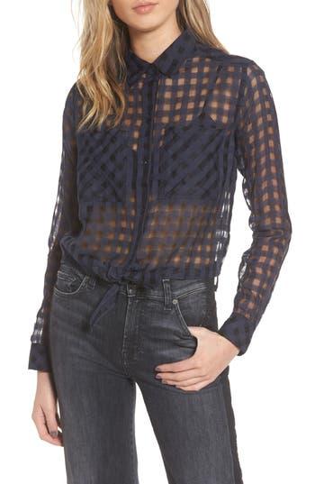 Rails Kelsey Sheer Tie Front Shirt