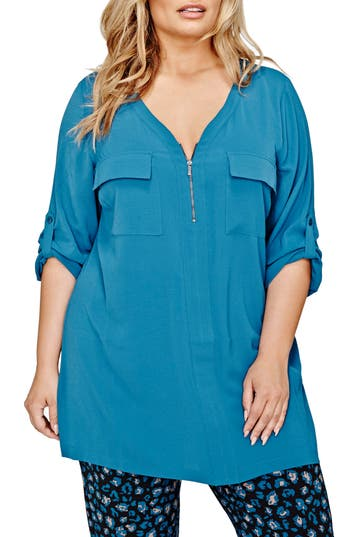 MICHEL Studio Tunic Blouse (Plus Size)
