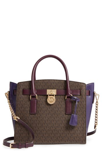 MICHAEL Michael Kors Large Hamilton Leather Satchel