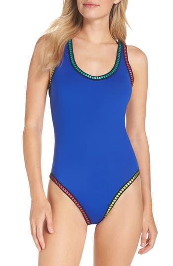La Blanca Threading Crossback One-Piece Swimsuit