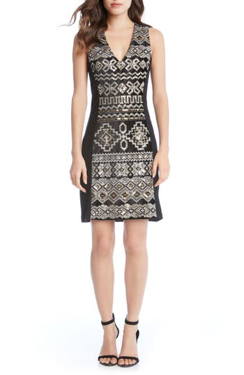 Karen Kane Sequin Sheath D..