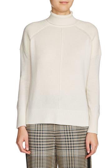 maje Rolled Turtleneck Cashmere Sweater