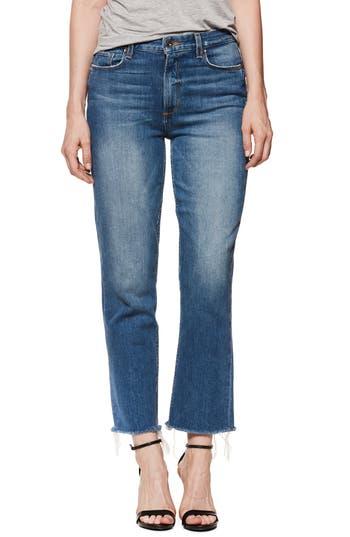 PAIGE Sarah High Waist Crop Straight Leg Jeans (Surrey/Vintage Fray)