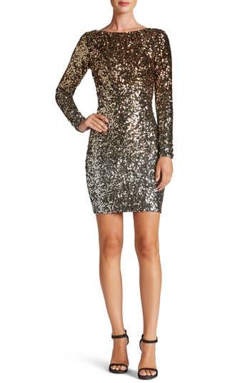 Dress the Population Lola Ombré Sequin Body-Con Dress