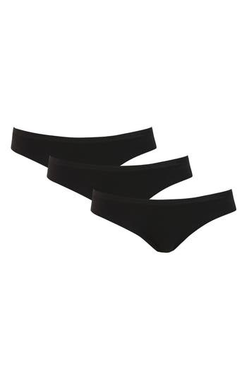 Topshop 3-Pack Low Rise Briefs