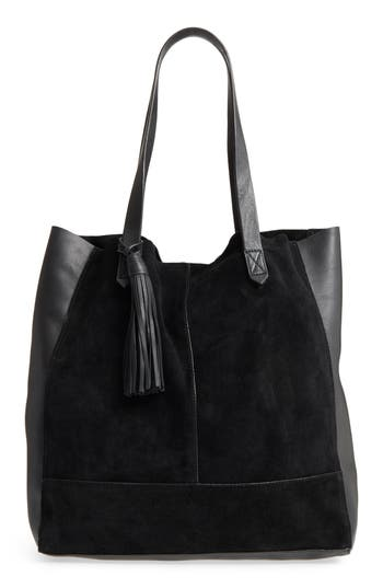 Leith Mixed Leather Tote