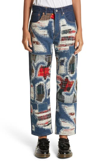 Junya Watanabe Distressed Patch Jeans