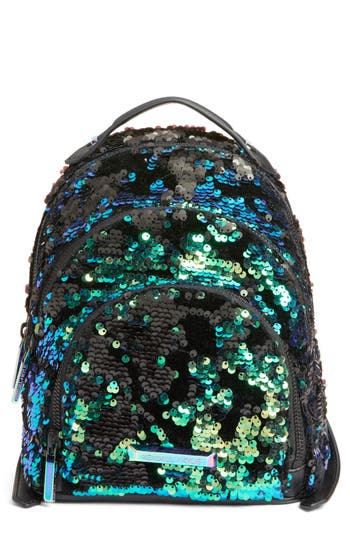 KENDALL + KYLIE Mini Sloane Velvet & Sequin Backpack