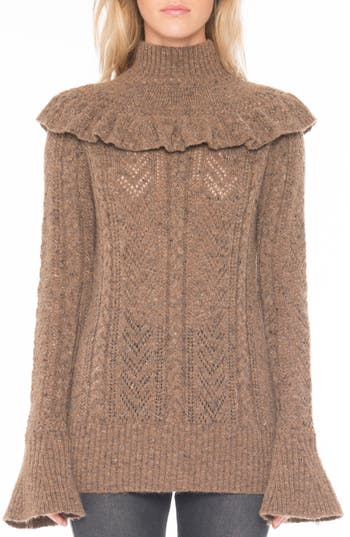 Willow & Clay Pointelle Turtleneck Sweater