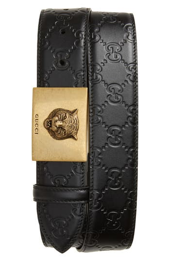 Gucci Wolf Buckle Leather Belt Nordstrom