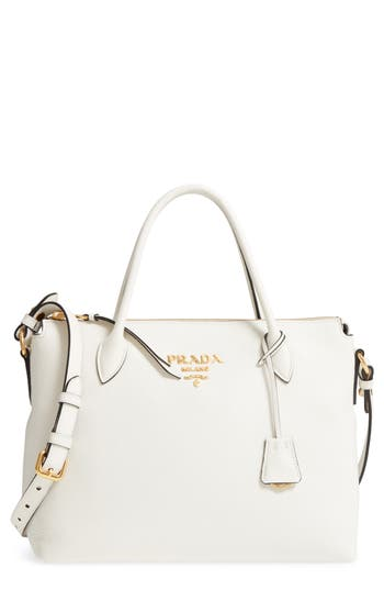 Daino Leather Shoulder Bag by Prada