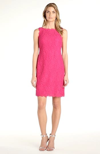 Boatneck Lace Sheath Dress, video thumbnail