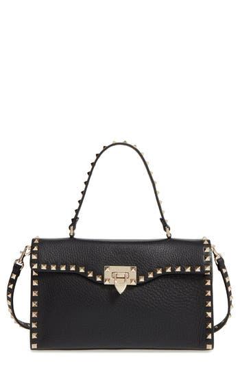 Valentino 'Rockstud' Calfskin Leather Single Handle Shoulder Bag