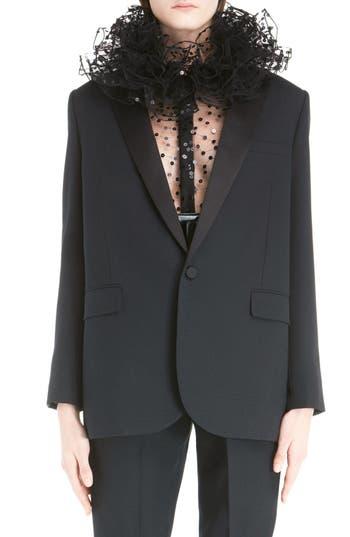 Saint Laurent One-Button Tuxedo Jacket