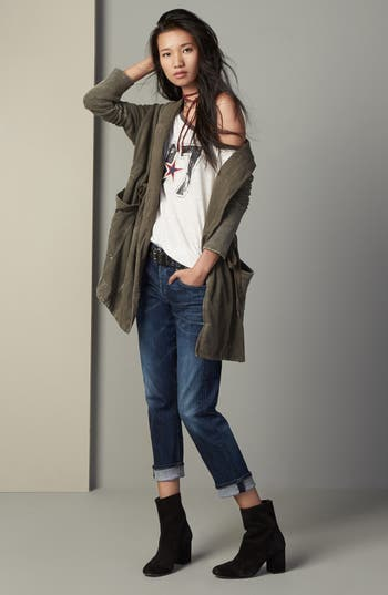 Main Image - Free People Cardigan, Tee & Citizens of Humanity Jeans Outfit with Accessories