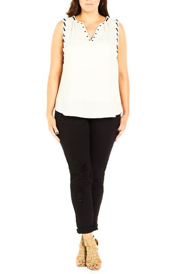 City Chic Whip Stitch Tank..