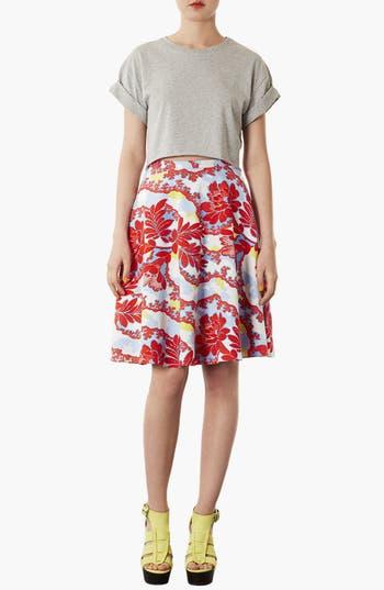Alternate Image 1 Selected - Topshop 'Portobello Calf' Skater Skirt
