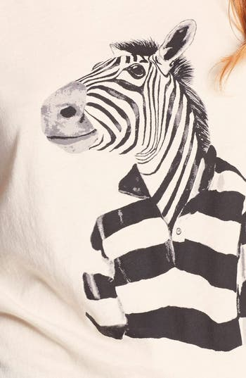 Alternate Image 3  - MARC BY MARC JACOBS 'Mr. Zebra' Pima Cotton Tee