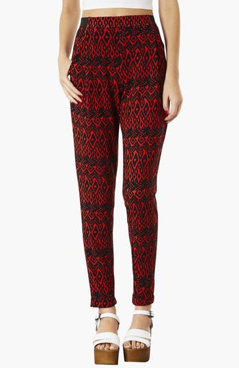 Main Image - Topshop Diamond Pattern Jersey Trousers