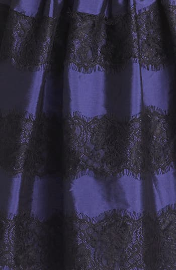 Alternate Image 3  - Isaac Mizrahi New York Lace Detail Taffeta Fit & Flare Dress
