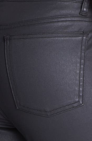 Alternate Image 3  - Eileen Fisher Waxed Denim Skinny Jeans