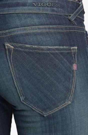 Alternate Image 3  - Vigoss 'Thompson Tomboy' Crop Skinny Boyfriend Jeans (Dark) (Juniors)