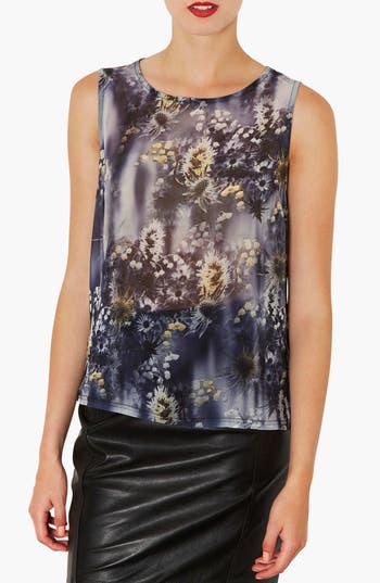 Alternate Image 1 Selected - Topshop Dandelion Print Chiffon Shell