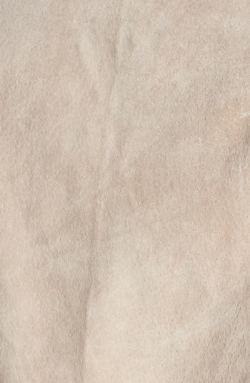 Suede Moto Vest,                             Alternate thumbnail 3, color,                             Stone