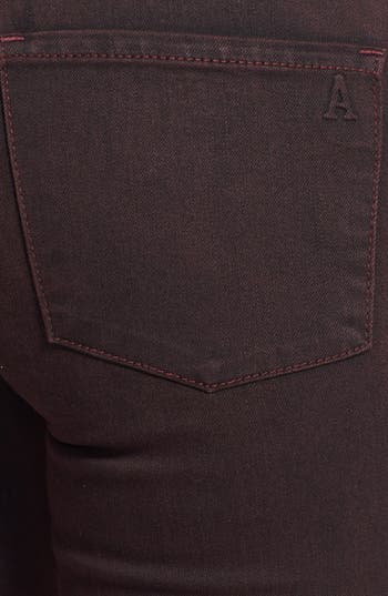 Alternate Image 3  - Articles of Society 'Mya' Overdyed Skinny Jeans (Deep Red)