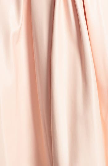Pleat Faux Leather Skirt,                             Alternate thumbnail 3, color,                             Blush