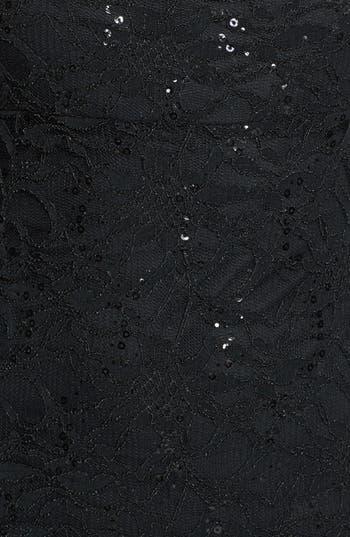 Alternate Image 3  - Jump Apparel Open Back Lace Trumpet Gown (Juniors)