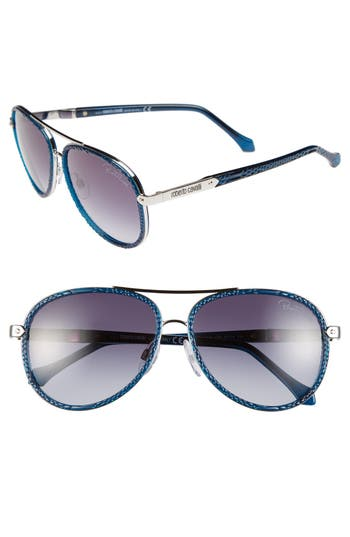 Roberto Cavalli 'Adhafera' 57mm Aviator Sunglasses