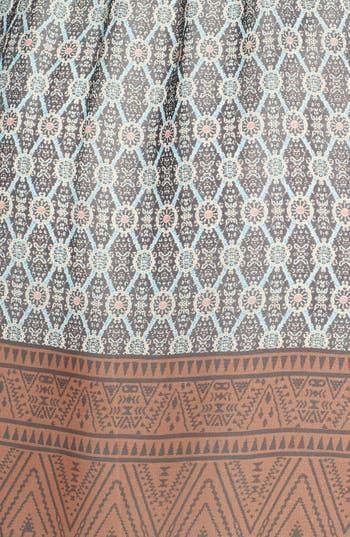 Alternate Image 4  - Everly Border Print Surplice Dress (Juniors)