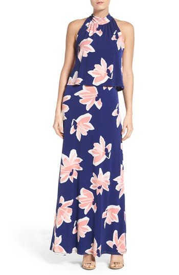 Leota 'Syler' Popover Jersey Maxi Dress