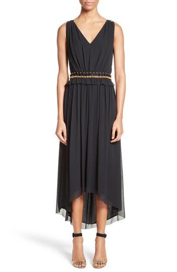 St. John Collection Crinkled Silk Georgette Dress