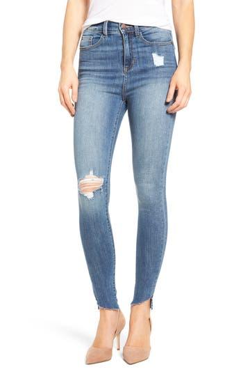 SP Black Decon Raw Edge High Waist Skinny Jeans