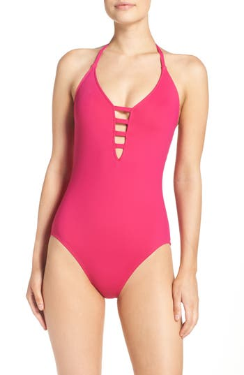 La Blanca Caged Strap One-Piece Swimsuit