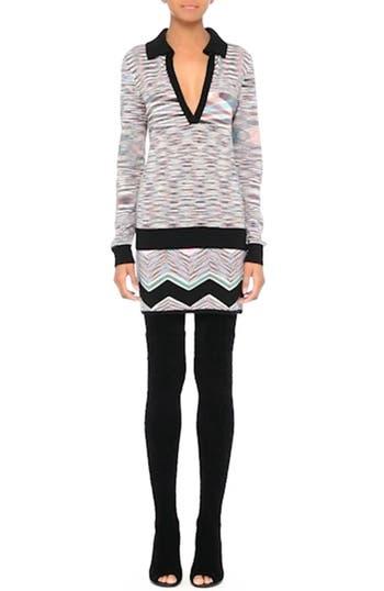 Space Dye Wool Blend Polo Sweater, video thumbnail