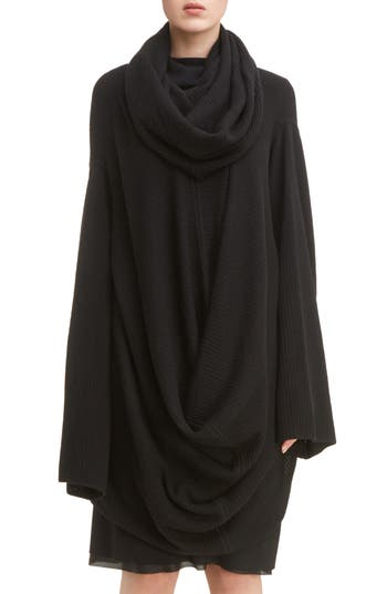 Rick Owens Virgin Wool Drape Tunic