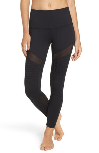 Zella Autumn High Waist Moto Ankle Leggings