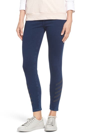 Mavi Jeans Joie Embellished High Waist Skinny Jeans (Dark Indigo Move)