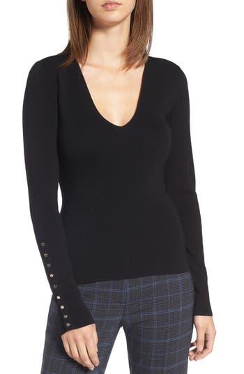 Lewit Merino Wool Blend Rib Knit Pullover