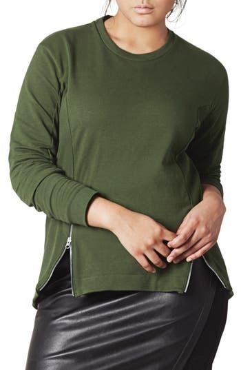 UNIVERSAL STANDARD Corbelle Zip Hem Sweatshirt (Plus Size)