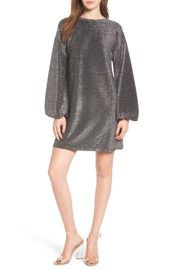 Leith Metallic Shift Dress
