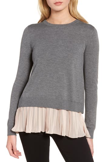 Chelsea28 Pleated Hem Sweater