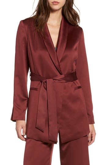 Leith Belted Satin Jacket