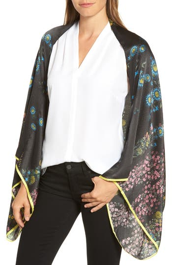 Ted Baker London Unity Floral Silk Cape Scarf