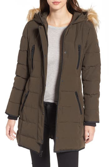 GUESS Hooded Jacket with Faux ..