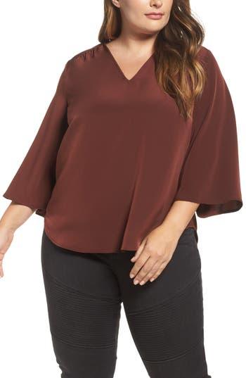 Melissa McCarthy Seven7 Bell Sleeve Blouse (Plus Size)