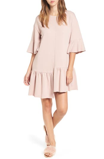 BP. Asymmetrical Flounce Hem Sweatshirt Dress